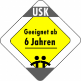 Approved for children aged 6 and above (Unterhaltungssoftware Selbstkontrolle - Germany)