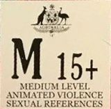 Mature Audiences 15+ - Medium level violence & sexual references (M15+) (Australian Classification Board - Australia)