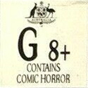 General 8+ - Contains comic horror (G8+) (Australian Classification Board - Australia)