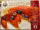 The picture of the Nintendo 64 : Une série fantastique : orange feu (Canada) bundle