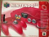 The picture of the Nintendo 64 : Une série fantastique : rouge pastèque (Canada) bundle
