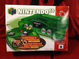 The picture of the Nintendo 64 : Une série fantastique : vert jungle + DK64 (Canada) bundle