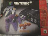 The picture of bundle Nintendo 64 Atomic Purple Color inclui Extra Controller (Brazil)