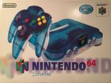 The picture of bundle Nintendo 64 Clear Blue (Japan)