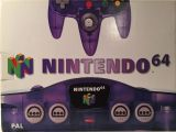 The picture of the Nintendo 64 Clear Purple (Europe) bundle