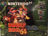 The picture of the Nintendo 64 Donkey Kong 64 Pak (Europe) bundle