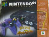 The picture of the Nintendo 64 Edição Especial! Atomic Purple (Brazil) bundle