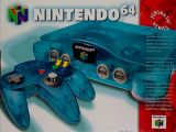 The picture of bundle Nintendo 64 Funtastic Series: Ice Blue (United States)