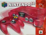 The picture of bundle Nintendo 64 Funtastic Series: Watermelon Red (United States)