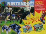 The picture of bundle Nintendo 64 Pack ISS 64 avec Super Mario 64 (France)