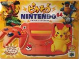 The picture of bundle Nintendo 64 Pikachu Edition Orange (Japan)