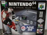 The picture of bundle Nintendo 64 Special Value Pak NHL 99 (Sweden)