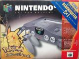 The picture of the Nintendo 64 incluye Promocion Blockbuster (Argentina) bundle
