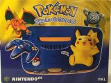 The picture of the Pokemon Pikachu Nintendo 64  (Europe) bundle