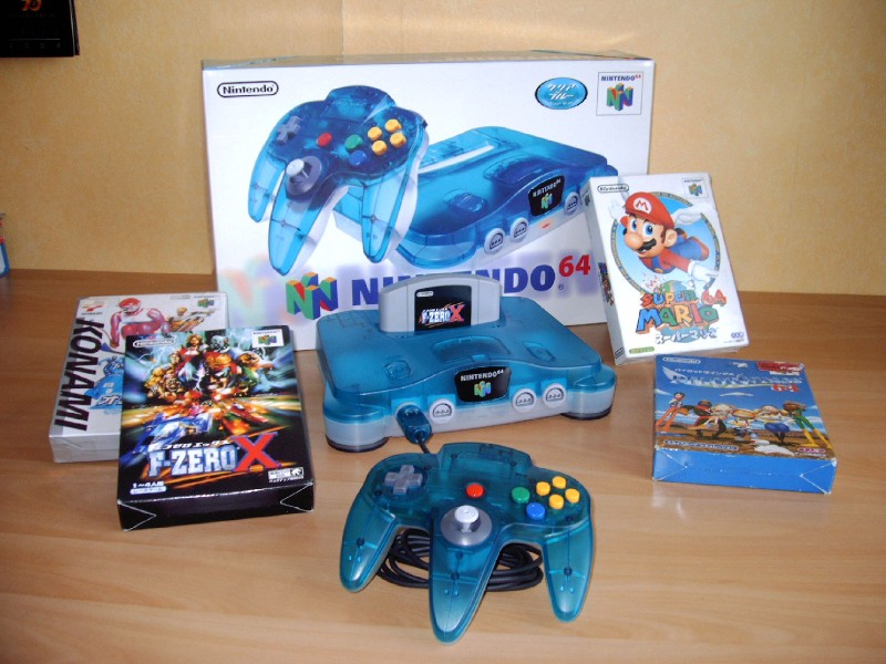 intendo 64 Clear Pack Blue
