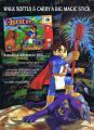 Publicité américaine pour le jeu Holy Magic Century ou Quest 64 sur Nintendo 64. Walk softly and carry a big magic stick