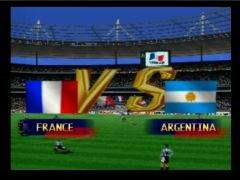 Début de la partie (International Superstar Soccer 98)