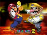 Artwork de Mario Party 2 avec Mario et Wario