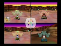 Le mode battle totalement similaire à Mario Kart 64 ! (Mickey's Speedway USA)
