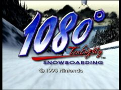 Game title screen (1080 Snowboarding)