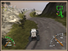 Les circuits sont sinueux (Monster Truck Madness 64)