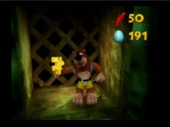 The Grail ! Banjo has found a puzzle piece!  (Banjo-Kazooie)