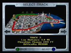 Track selection (San Francisco Rush)
