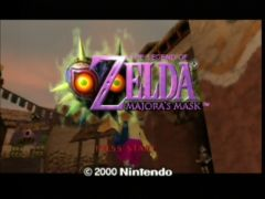 Ecran titre. (The Legend Of Zelda: Majora's Mask)