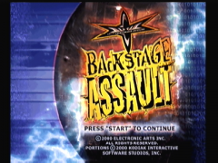 Ecran titre (WCW Backstage Assault)