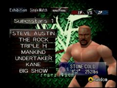 Choix de la superstar (WWF Wrestlemania 2000)