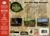 Scan of back side of box of A Bug's Life