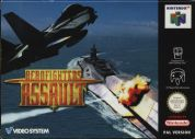Scan of front side of box of Aero Fighters Assault