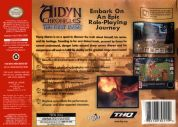 Scan of back side of box of Aidyn Chronicles: The First Mage