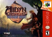 Scan of front side of box of Aidyn Chronicles: The First Mage