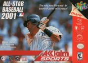 Scan of front side of box of All-Star Baseball 2001