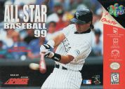 Scan of front side of box of All-Star Baseball '99
