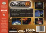 Scan of back side of box of Asteroids Hyper 64