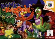 Scan of front side of box of Banjo-Kazooie