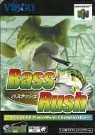 Scan of front side of box of Bass Rush: Ecogear Powerworm Championship