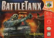 Scan of front side of box of Battletanx