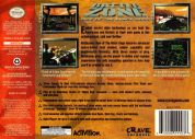 Scan of back side of box of Battlezone: Rise of the Black Dogs