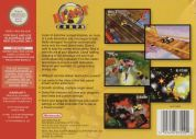 Scan of back side of box of Blast Corps