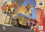 Scan of front side of box of Blast Corps