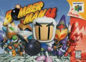 Scan of front side of box of Bomberman 64