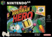 Scan of front side of box of Bomberman Hero