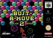 Scan of front side of box of Bust-A-Move 2: Arcade Edition