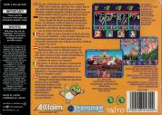 Scan of back side of box of Bust-A-Move 3 DX