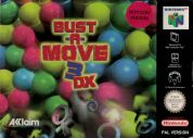 Scan of front side of box of Bust-A-Move 3 DX