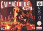 Scan of front side of box of Carmageddon 64