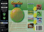 Scan of back side of box of Centre Court Tennis